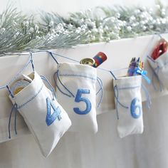 Hanukkah Countdown Bags | Crate and Barrel