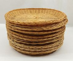 Wicker Paper Plate Holders Set of 12 Rattan Bamboo Picnic Barbeque Supply & Simple decorations with wicker plate holders and bowls | Creating a ...