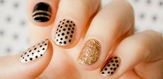 Cómo pintarse las uñas bien: Guía paso a paso, uñas cortas doradas. Clic Follow…
