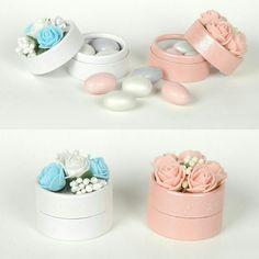 Nikah şekeri kutulu çiçekli sedefli badem şekerli