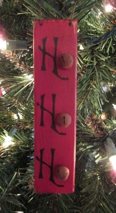 Ho Ho Ho Primitive Christmas Ornament