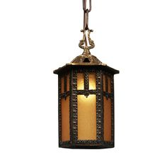 antique lantern with original glass early