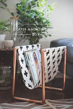 DIY: copper magazine stand #diy #crafts