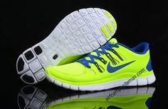 Nike Free Run+ 4 Mens Liquid Lime Volt Royal Blue        #Volt  #Womens #Sneakers