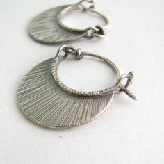 Small Silver Hoops Argentium Sterling Silver Earrings by Mocahete