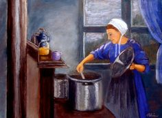"""Gloria Adrian, Stirring the Pot from """"Becoming Amish"""" series"""