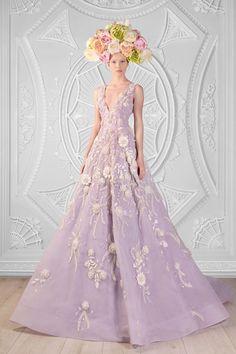 Soft purple A-line wedding dress: Rami Kadi