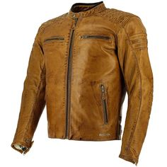 Richa Daytona 60S Leather Jacket - Cognac - FREE UK DELIVERY