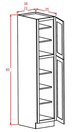 "93""H - Wall Pantry Single Door"