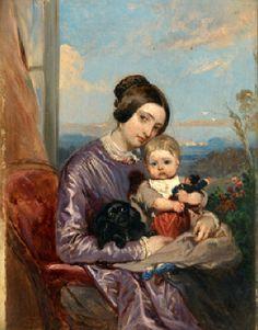 Madame Louis Gallait et sa fille la future madame Bucheron-Gallait LOUİS GALLAİT