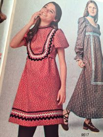 gold country girls: Patterns From The Past: Cute Simplicity Dresses - 9565 and 9617