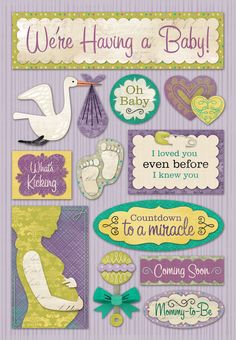 Karen Foster Design - Maternity Collection - We're Having A Baby at Scrapbook.com $2.19