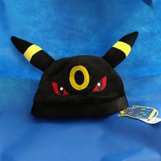 Pokemon Cosplay Cap Umbreon Embroidered Soft Plush Hat