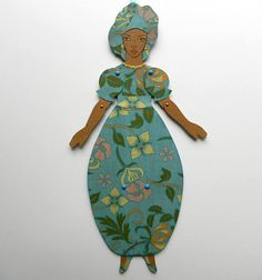 Black Paper Doll African American Paper Doll Jointed Paper