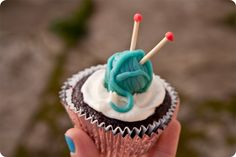 Vegan red velvet knitting cupcakes. Let's talk about how awesome those five words sound together.