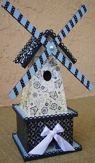 This is a paper birdhouse from a scrapbooking site. I'm part Dutch, so it really speaks to me.
