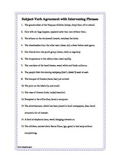 Subject - Verb Agreement | Poe-ly Written | Pinterest | Art ...