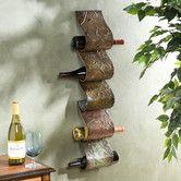 Found it at Wayfair - Blitz Sculpture 5 Bottle Wall Mounted Wine Rack