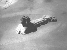 Egypt - This is a rare image of the Sphinx taken from a hot air balloon, in the early 19th century. This is before excavation and restoration.