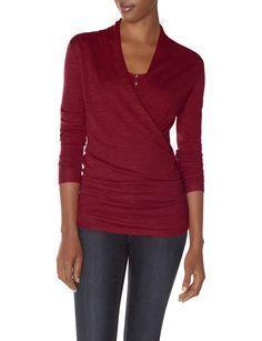 Merino Wrap Look Sweater | Women's Sweaters | THE LIMITED