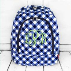 Gingham Large Backpack by SewPretty1Shop on Etsy