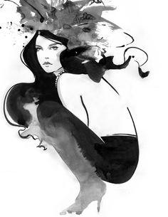 Fashion Illustration - self promotion piece.