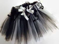 Halloween Spider Web Tulle Tutu Newborn - 10 Years Old Ballerina Ballet Baby Infant Toddler Girls Black Grey Gray Costume Bug Insect Popular