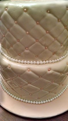 Close up of cake quilting