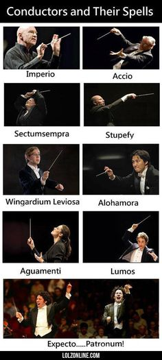 Conductors And Their Spells #haha #funny