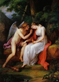 Cupid and Psyche. Angelica Kauffman. Swiss 1741-1807. oil/canvas. http:hadrian6.tumblr.com