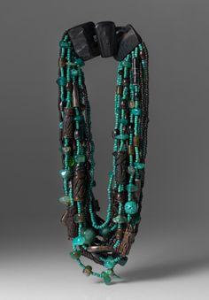 Monies UNIQUE Jade, Prehnite, Agate & Chrysoprase Necklace