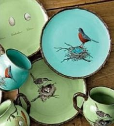 ≗ Feathered Nest of Hope ≗ bird feather & nest art jewelry & decor - Bird Nesting Dishes, Mugs And Plates from ajmadison.com