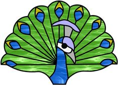 tumblr stained glass peacock patterns | Peacock | Stained Glass | Pinterest