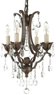 Feiss F1881-4-BRB Maison de Ville Traditional 4-light Chandelier in British Bronze - MF-F1881-4-BRB