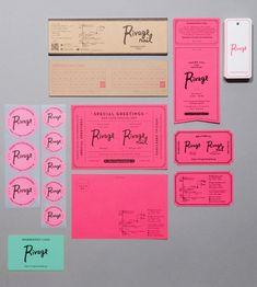colorful branding and print pieces Brand Identity Design, Graphic Design Branding, Stationery Design, Corporate Design, Typography Design, Brochure Design, Ok Design, Design Food, Print Design