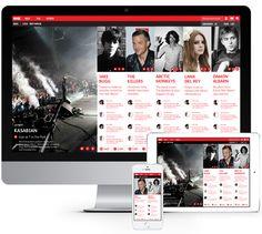 NME Website Redesign by David Calvert, via Behance
