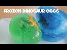 How to Make a frozen dinosaur egg Most of our little ones love all things dinosaur. You can surprise yours with a frozen dinosaur egg and they will be kept amused waiting for the dinosaur to appear. Older children may also like to construct the egg as a fun but possibly very wet activity. #toddleractivity