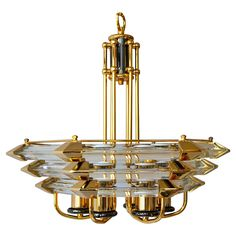 Glass Chandelier by Bakalowits at 1stdibs