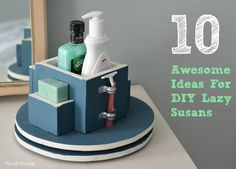 '10 Awesome Ideas for Lazy Susans - How to Make a Lazy Susan...!' (via Thrift Diving Blog)