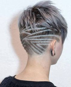cool 45 Undercut Hairstyles with Hair Tattoos for Women With Short or Long Hair - Stylendesigns.com!