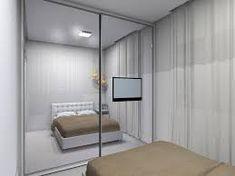 Resultado de imagem para quarto de casal pequeno com tv