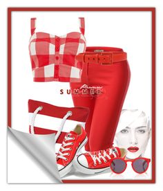 Red Capri`s by cavell on Polyvore featuring polyvore, fashion, style, J.TOMSON, Converse, Salsa, Illesteva, Oscar de la Renta and clothing