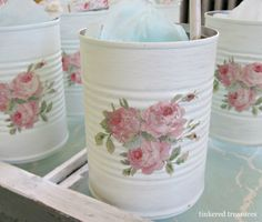 Inspiration: Shabby chic florals - Tin.