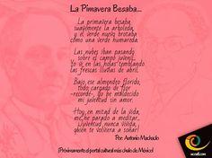 """Poema de: Antonio Machado """"Próximamente el portal cultural más chulo de México"""" - www.ucoatl.com"""