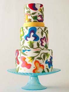 Crewel Work Cake | 25 Craft-Inspired Desserts That Are (Almost) Too Cute ToEat