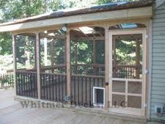 Image result for pictures of doggie door for screened porch