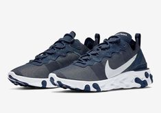 buy online 6299e 404e8 Nike React Element 55 Midnight Navy Running Training, Dope Fashion, Sneaker  Boots, Reebok