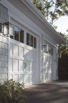 cape cod house garage in front | ... Limited Edition Series wood garage doors, Design 5 with REC14 windows