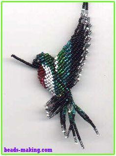 3d-beading hummingbird