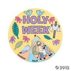 Color Your Own Holy Week Wheels